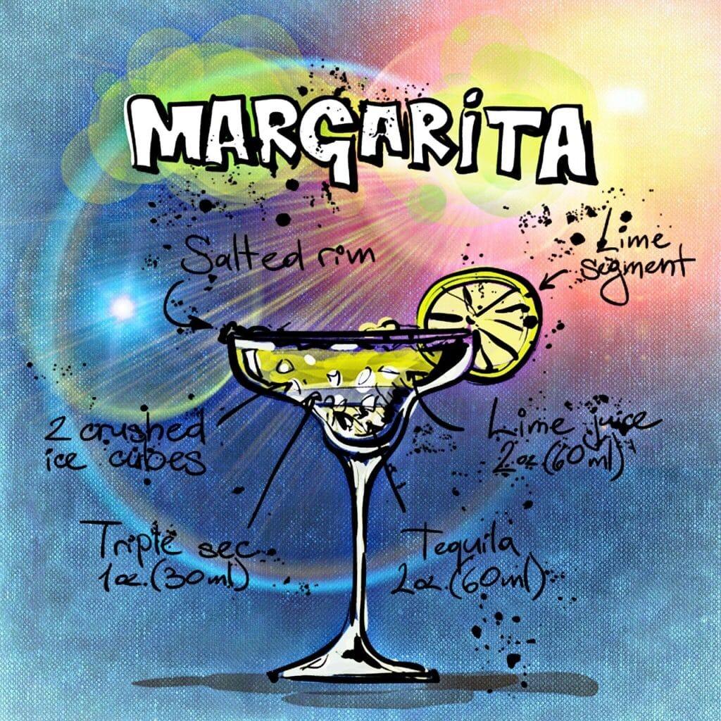 margarita, cocktail, drink